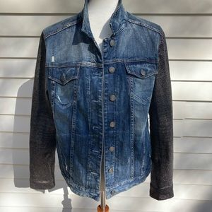 Express denim mixed media jacket size L